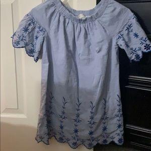Zara girls light blue dress